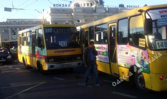 часть транспорта в Одессе