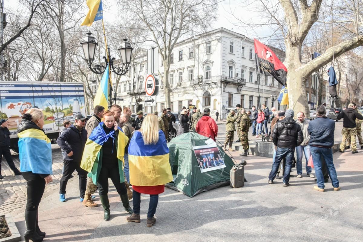 ВОдессе протестуют против назначения Стоянова, ипросят вернуть Сакварелидзе