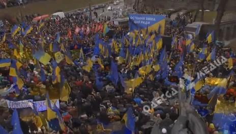 ВКиеве прошел митинг приверженцев Саакашвили