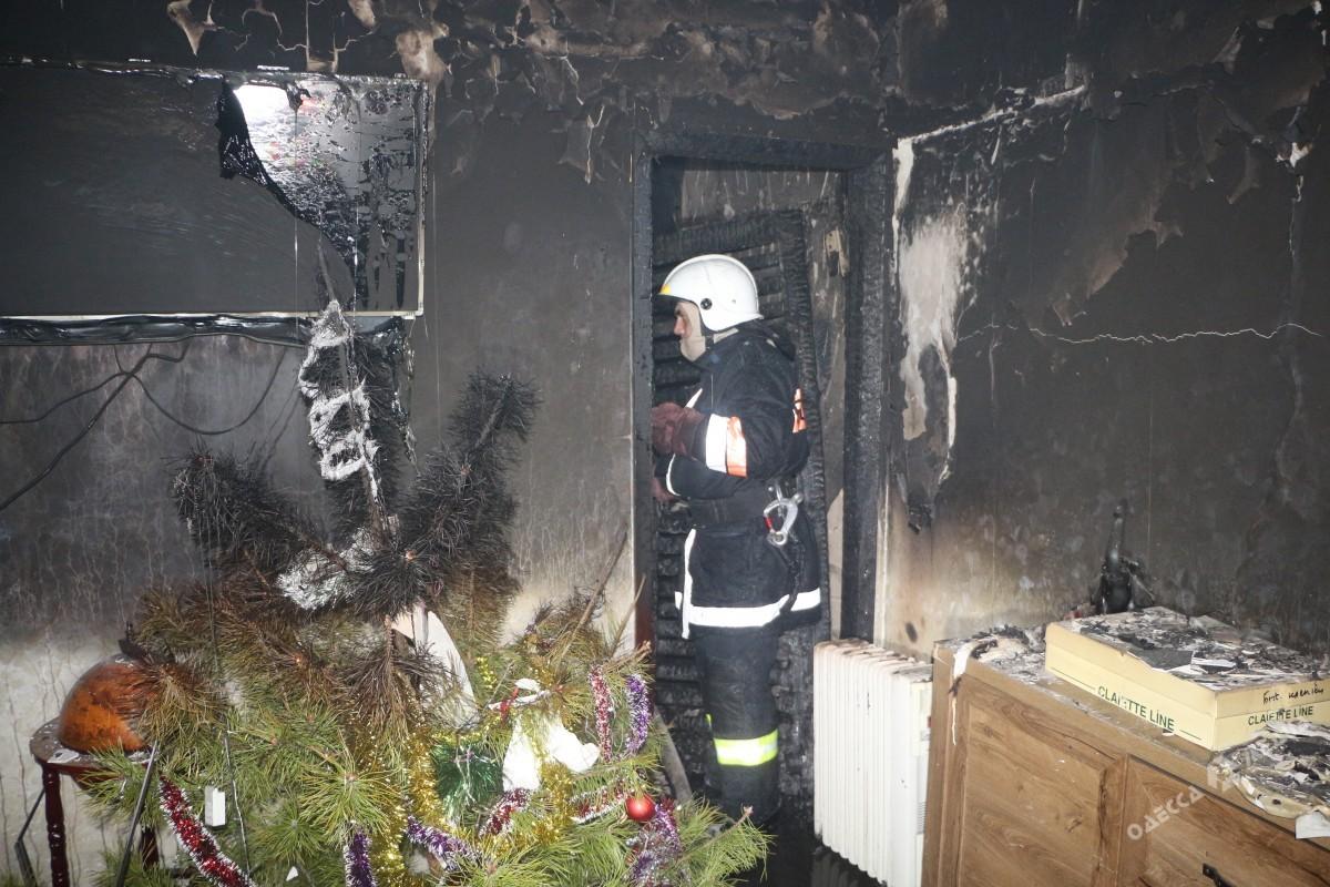 Водесской многоэтажке горела квартира