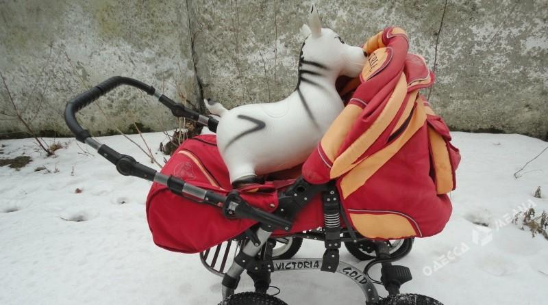 ВОдесской области накраю дороги отыскали брошенную коляску с сыном