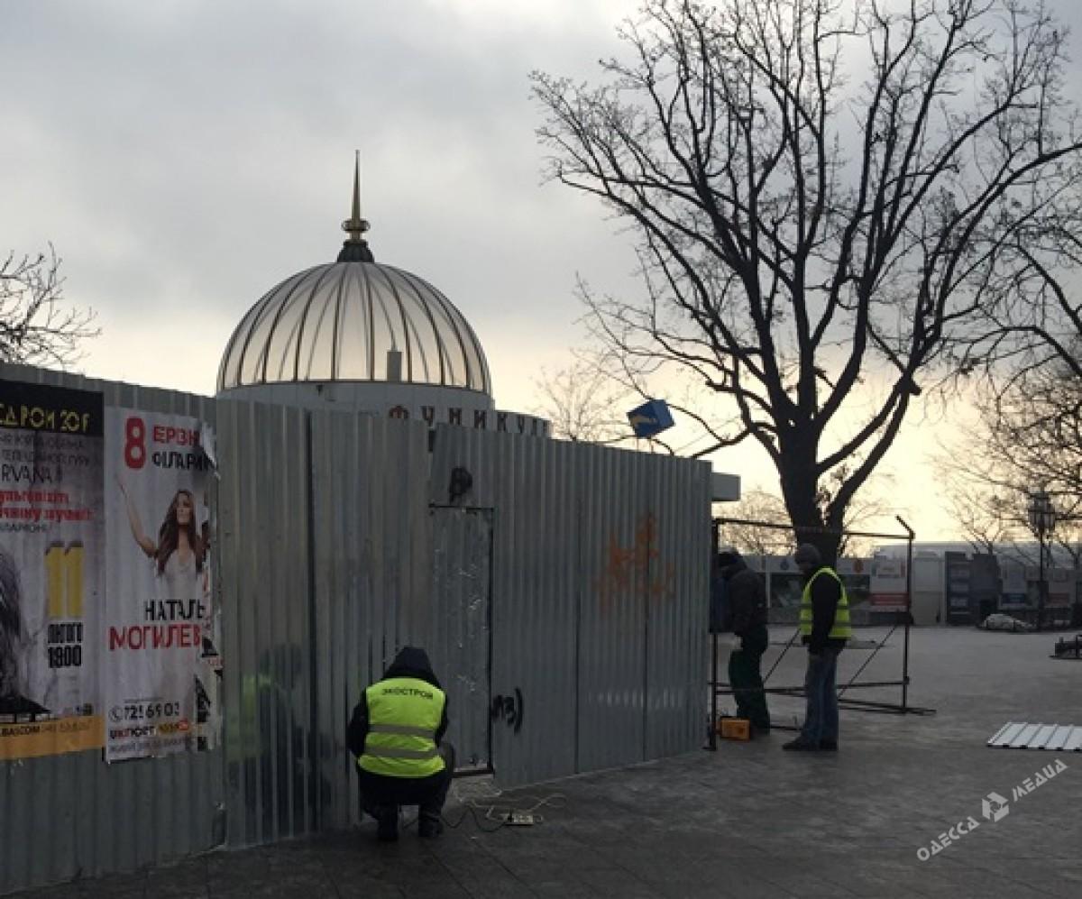 ВОдессе закрыли наремонт Потемкинскую лестницу