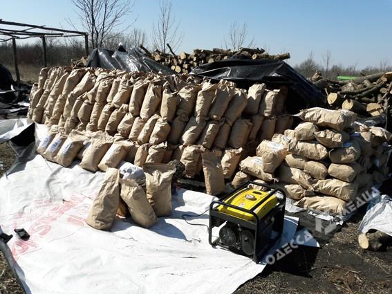 В Одесской области правоохранители прикрыли незаконное производство древесного угля