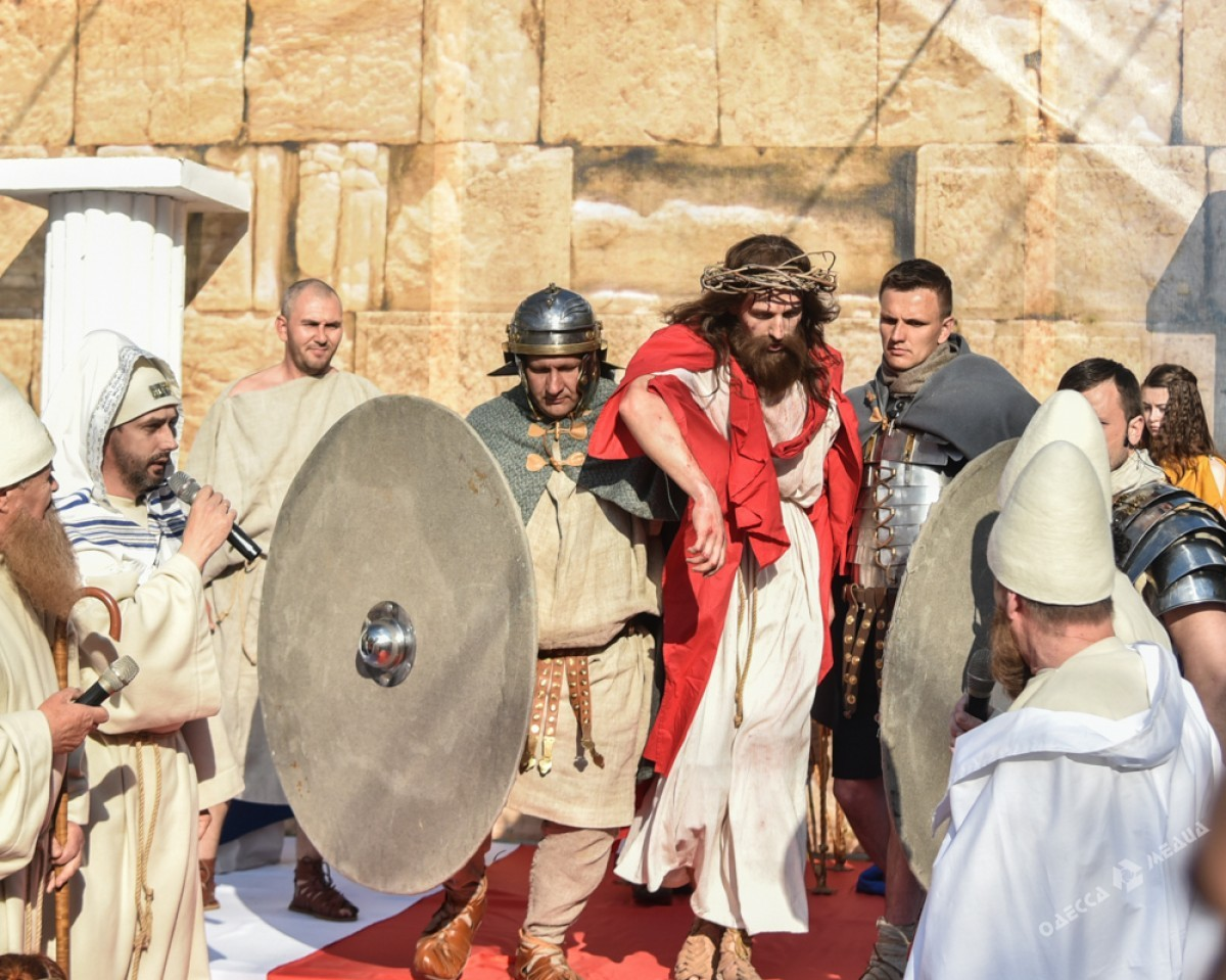 2c64f927c74369b5ae0e6f84a8b089a9 Страсти Христовы: в Одессе прошла костюмированная пасхальная реконструкция
