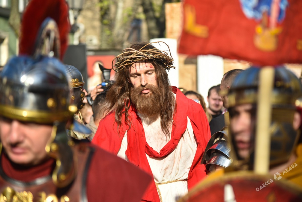 d0467559a3b1798433c19da64a15e98e Страсти Христовы: в Одессе прошла костюмированная пасхальная реконструкция