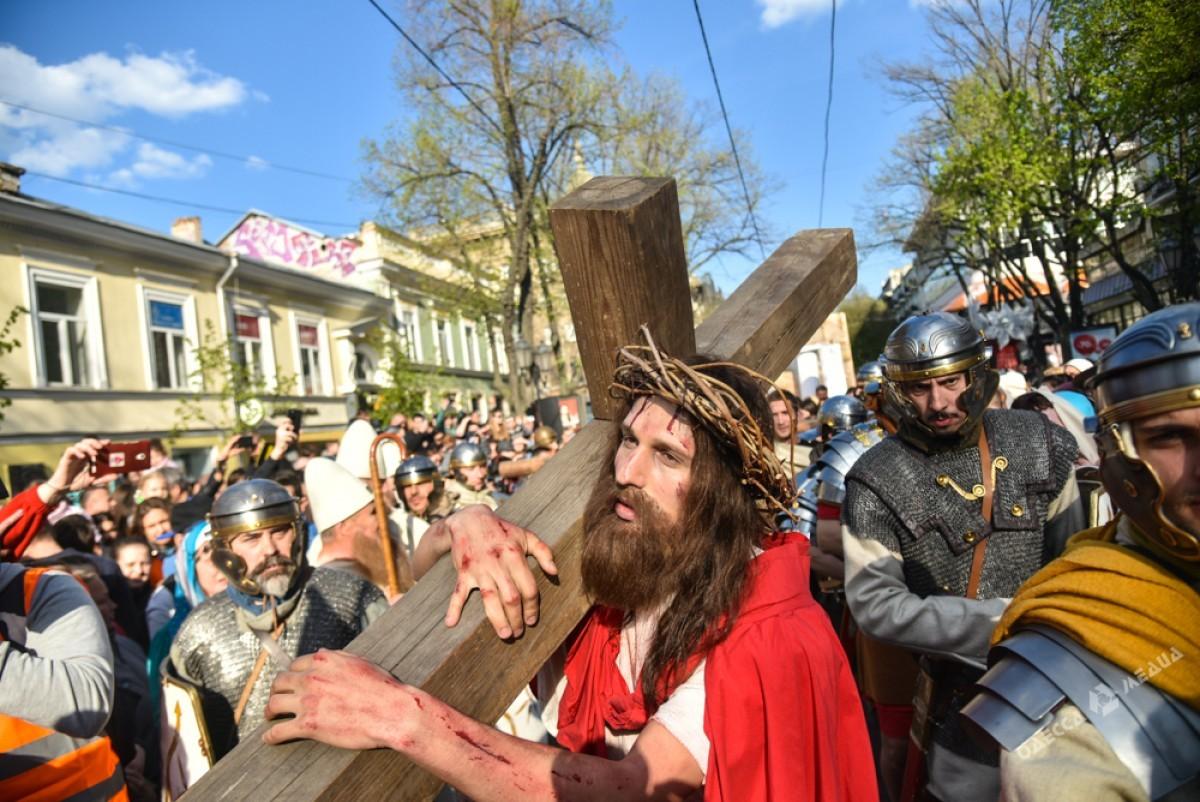 e355cfcb50624e6eaddf767b9ec981f6 Страсти Христовы: в Одессе прошла костюмированная пасхальная реконструкция