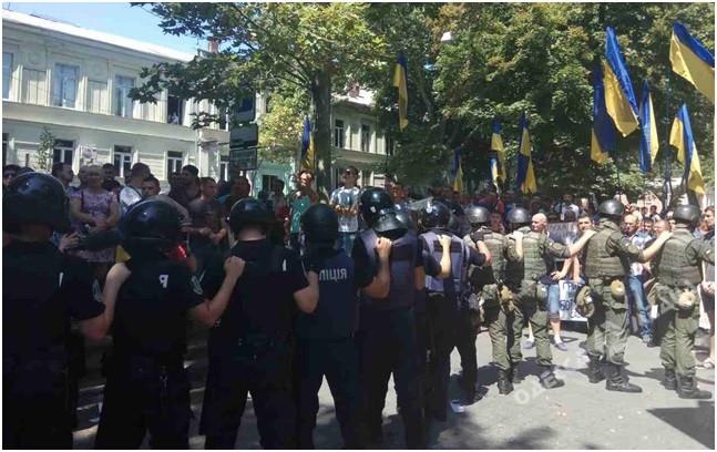 ВОдессе митинг из-за клиники перерос вдраку: задержано шесть человек