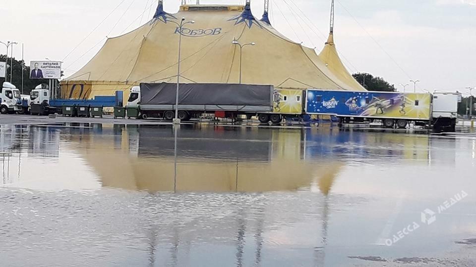 Непогода вОдессе: улицы города снова оказались под водой