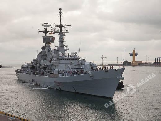 Водесский порт зашел эсминец ВМС Италии