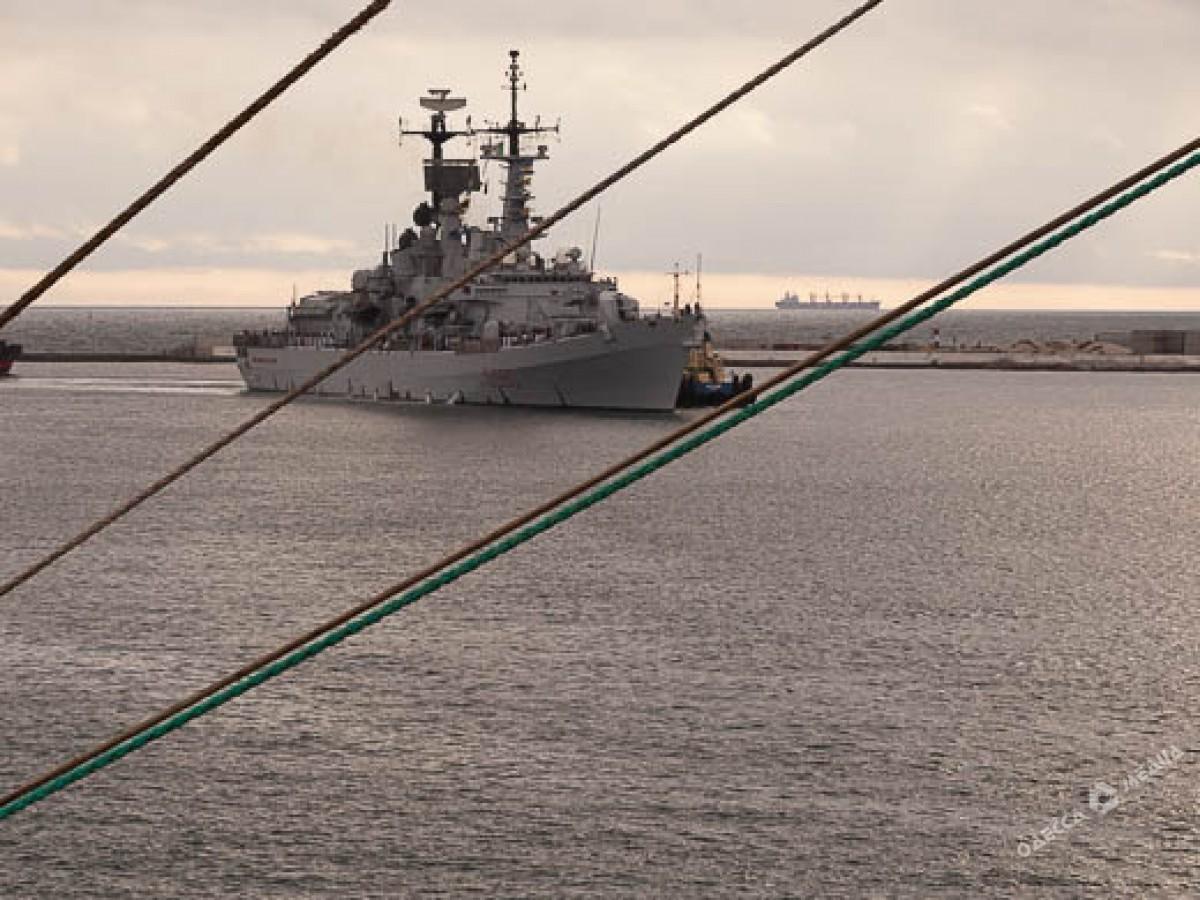 Эсминец ВМС Италии прибыл водесский порт
