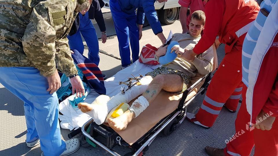 ВОдессу доставили раненных бойцов АТО
