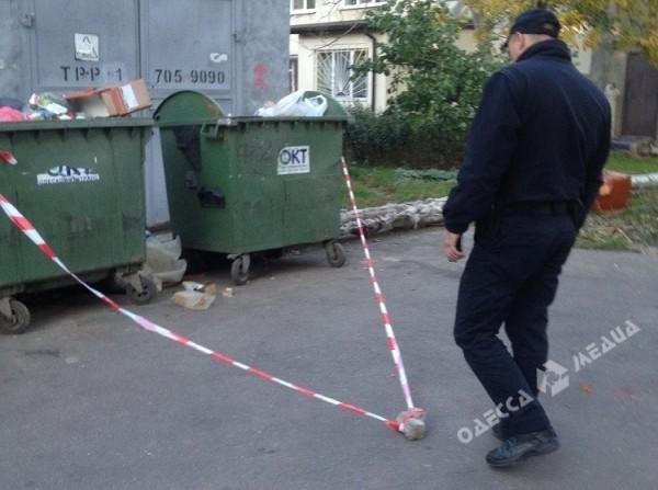 ВОдессе около мусорного контейнера отыскали боеприпасы