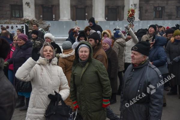 В Одессе милиция живой стеной разделила «Самооборону» и «Антимайдан» (ФОТО), фото-13