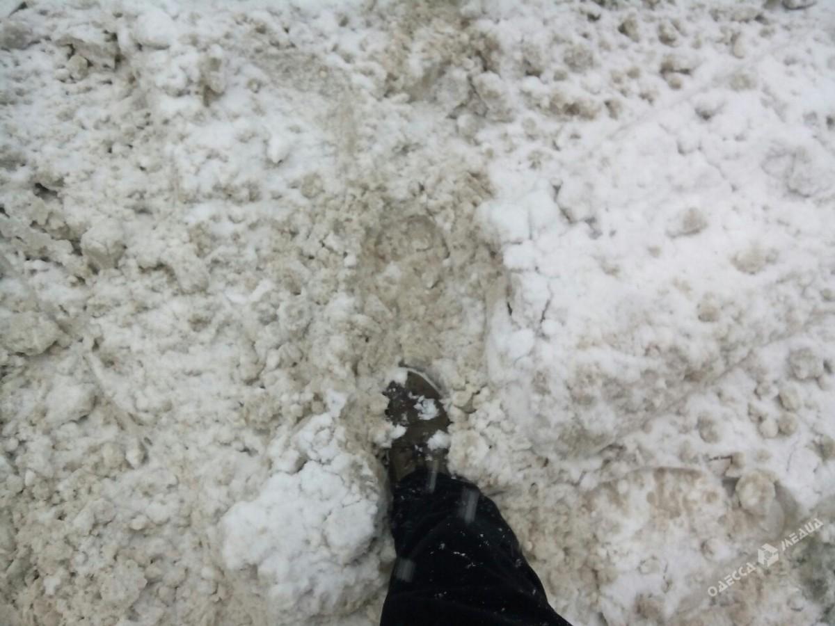 ec9f00f7212a9b000d73aae6483f01d3 Зимняя Одесса: пес-снеговик, одинокий Дюк и машины в сугробах